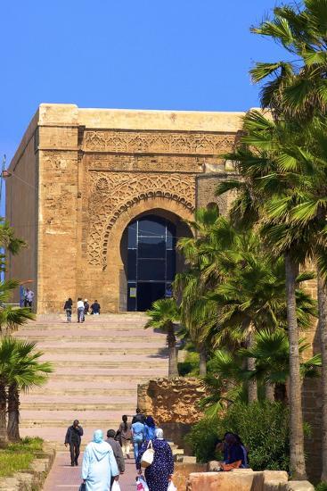 Bab Oudaia, Oudaia Kasbah, Rabat, Morocco, North Africa, Africa-Neil Farrin-Photographic Print