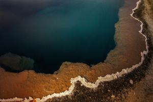 A Deep Geothermal Hot Spring Pool at Dawn by Babak Tafreshi