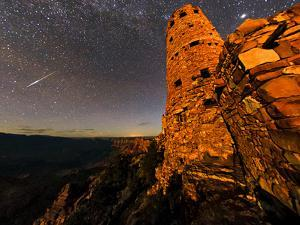 A Fireball, a Bright Meteor, Streaks across the Sky Above the Grand Canyon by Babak Tafreshi