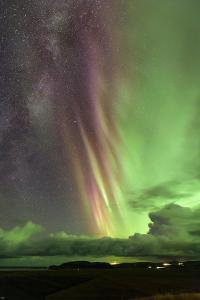 A Rare Sight of the Milky Way and Colorful Aurora Borealis, the Northern Lights by Babak Tafreshi