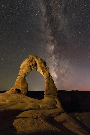 A Starry Night Above the Delicate Arch with the Milky Way from Scorpius to Aquila