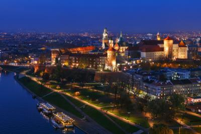 An Aerial View of Wawel Royal Castle and Vistula River by Babak Tafreshi