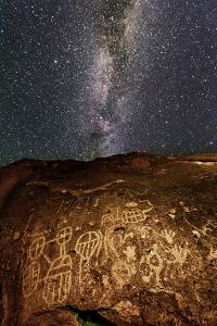 Ancient Native American Petroglyph in Owens Valley by Babak Tafreshi