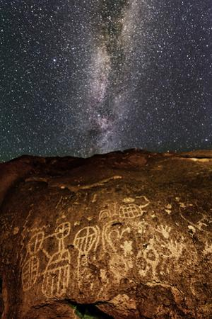Ancient Native American Petroglyph in Owens Valley