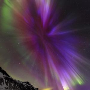 Aurora Borealis, the Northern Lights, in a Spectacular Crown, Aurora Corona by Babak Tafreshi