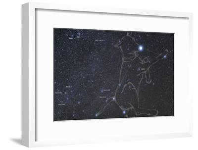 Constellation Canis Major, the Big Dog, with its Notable Star Sirius, the Brightest Star in the Nig