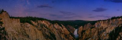 Dawn over Lower Yellowstone Falls and the Yellowstone River by Babak Tafreshi