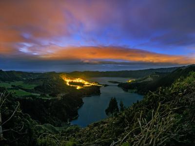 Evening Twilight over the Lagoa Das Sete Cidades by Babak Tafreshi