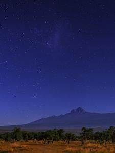 Kilimanjaro's Smaller Peak, Mawenzi, by Moonlight. the Small Magellanic Cloud Appears Above by Babak Tafreshi