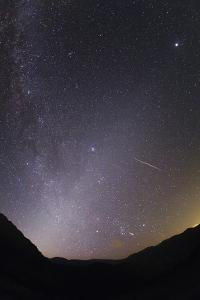 Meteors of the Perseid Meteors Shower Photographed with the Milky Way and Zodiacal Light by Babak Tafreshi