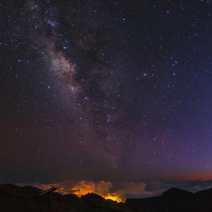 Milky Way's Central Bulge, in Constellations Scorpius and Sagittarius, over Los Llanos De Adriane by Babak Tafreshi