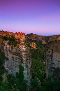 Monasteries Perch on the Edge of Cliffs in the World Heritage Site of Meteora by Babak Tafreshi