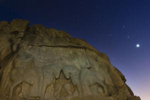 Night Sky over the Relief of an Ancient Persian King Ardashir I, Near Persepolis by Babak Tafreshi