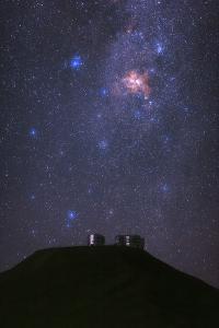 Night Sky over the Telescopes of the Cerro Paranal Observatory in the Atacama Desert by Babak Tafreshi