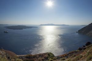 Sunshine on a Summer Day in the Mediterranean Islands of Santorini by Babak Tafreshi