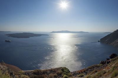 Sunshine on a Summer Day in the Mediterranean Islands of Santorini