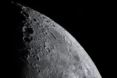 Telescopic Close Up View of the Moon and Various Lunar Craters by Babak Tafreshi