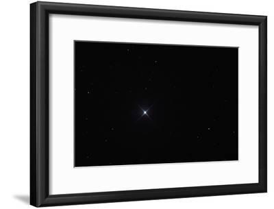 Telescopic View of the North Star or Polaris in Constellation Ursa Minor
