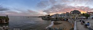 The City and the Bay of Cascais, Portugal, at Sunset by Babak Tafreshi