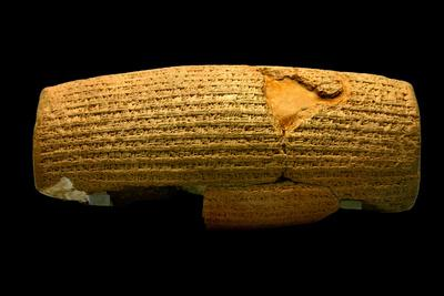 The Cyrus Cylinder, 6th Century BC, the First Declaration of Human Rights