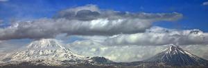 The Double Volcano known as Mount Ararat at the Border of Turkey, Armenia, and Iran by Babak Tafreshi