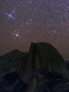 The Milky Way and the Constellation Gemini, the Twins, Appear over Half Dome by Babak Tafreshi