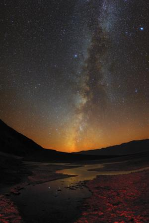 The Milky Way and Zodiacal Light over Badwater Basin in Death Valley by Babak Tafreshi