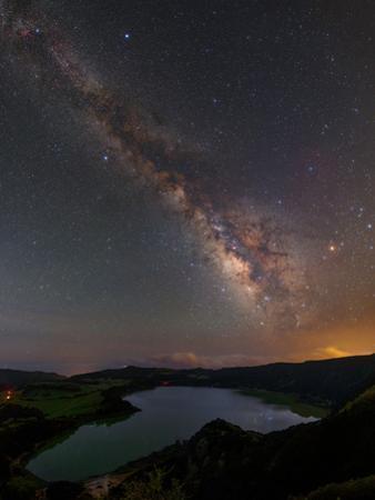 The Milky Way over Furnas Crater Lake by Babak Tafreshi