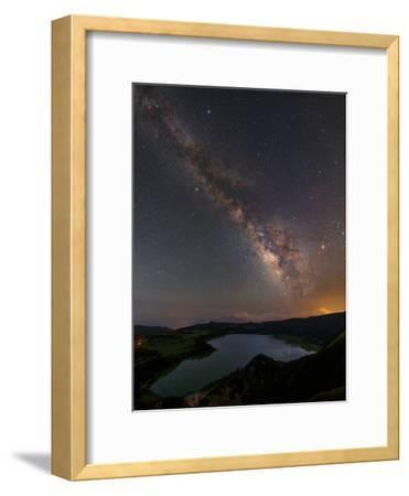 The Milky Way over Furnas Crater Lake