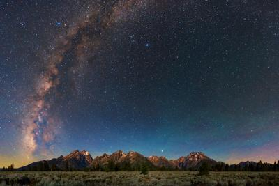 The Night Sky over Grand Teton National Park