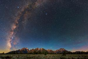 The Night Sky over Grand Teton National Park by Babak Tafreshi