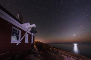 The Night Sky over the Atlantic at Pemaquid Point. Zodiacal Light and Venus Appear on the Right by Babak Tafreshi