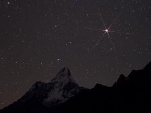 The Red Planet Mars Rises Over Ama Dablam by Babak Tafreshi
