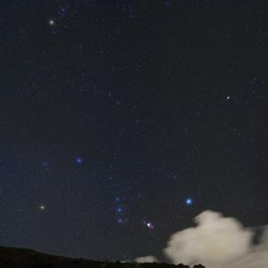 The Starry Sky with a Passing Cloud Next to Constellation Orion and Comet Lovejoy by Babak Tafreshi