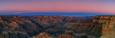 The Yellow-Red Light of Early Twilight and a Blue Band of Earth's Shadow over the Grand Canyon by Babak Tafreshi