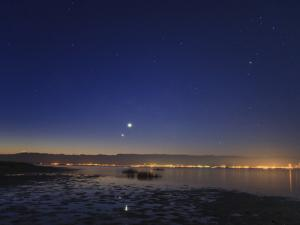 Venus and Jupiter, Shine Brightly in the East at Dawn, Near a Wildlife Refuge on the Caspian Sea by Babak Tafreshi