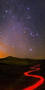 Winter Stars Rise in the Morning Sky of Alborz Mountains by Babak Tafreshi