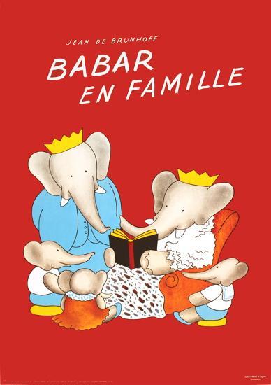 Babar en Famille-Jean de Brunhoff-Art Print