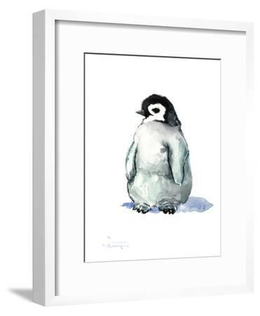 Babe Penguin-Suren Nersisyan-Framed Art Print