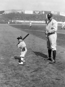 Babe Ruth and Mascot, 1922