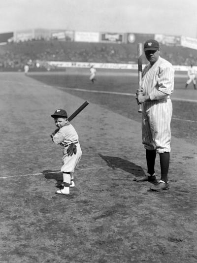 Babe Ruth and Mascot, 1922--Photo
