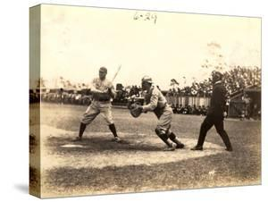 Babe Ruth Plays Ball During an Exhibition Game at Miami Field, March 16, 1920