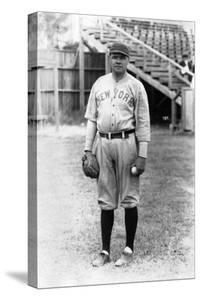 Babe Ruth Stands at Miami Field, March 16, 1920