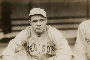 Babe Ruth When He Played for the Boston Red Soxs, Ca. 1919