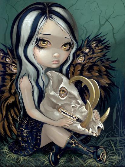 Babirusa Skull-Jasmine Becket-Griffith-Art Print