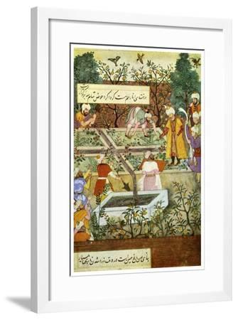 Babur Superintending in the Garden of Fidelity, 1508-Nanha Nanha-Framed Giclee Print