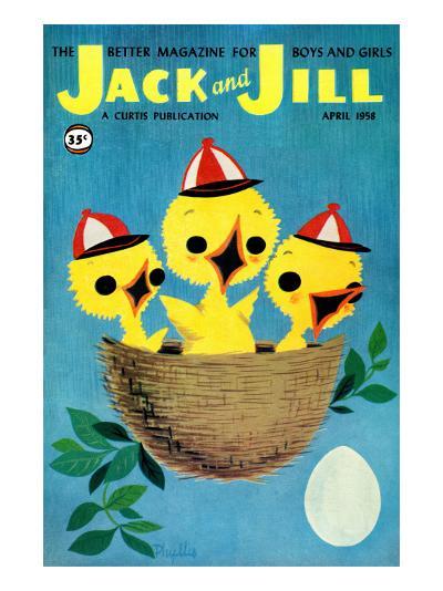 Baby Birds - Jack and Jill, April 1958-Phyllis Gimour-Giclee Print