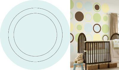 Baby Blue Concentric Dot Wall Decal Sticker--Wall Decal