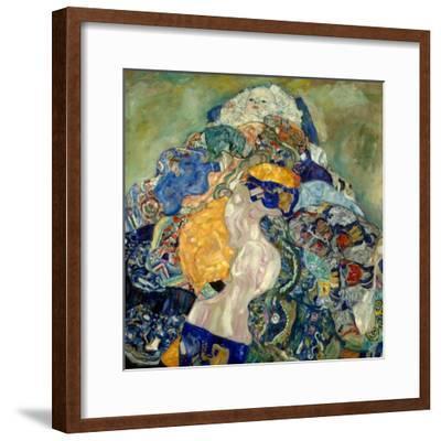 Gustav Klimt Hand Signed Lithograph Baby 1917-18
