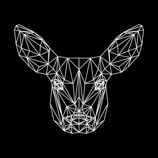Baby Deer Polygon-Lisa Kroll-Art Print
